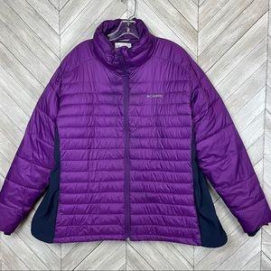Columbia Purple Puffer Jacket, Size 3x